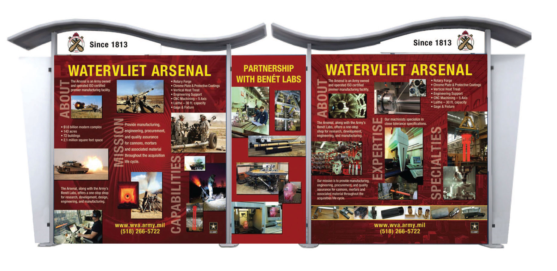 Military trade show display design